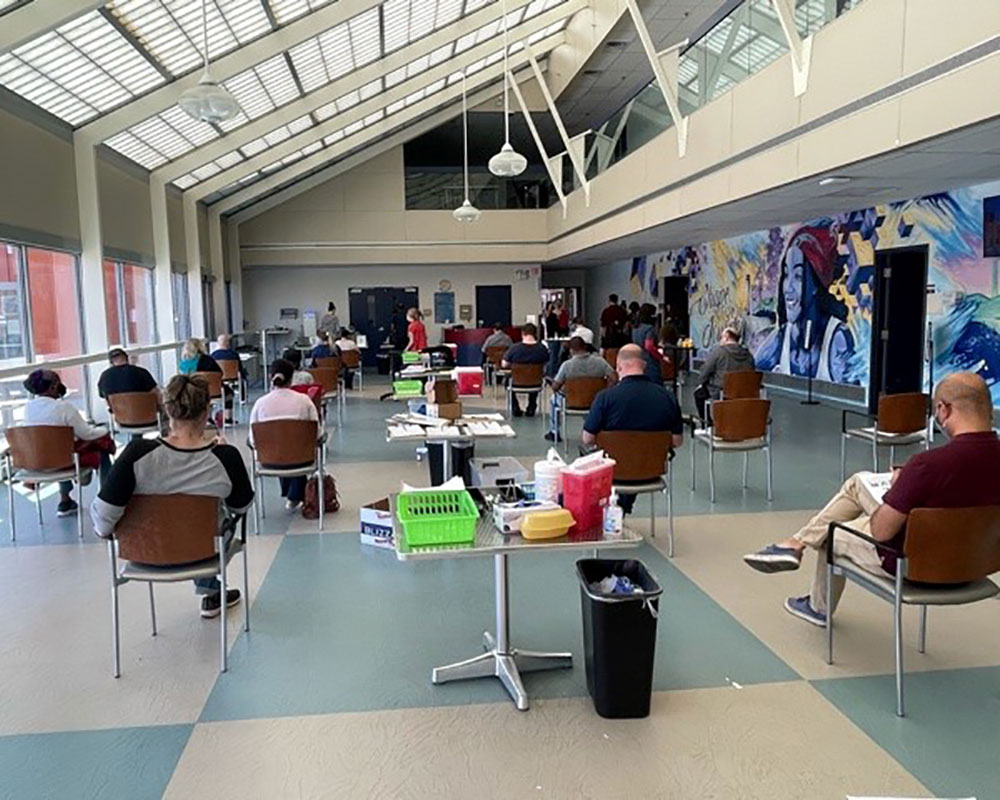 Greater Lawrence Family Health Center Opens  Vaccine Clinic at Northern Essex Community College