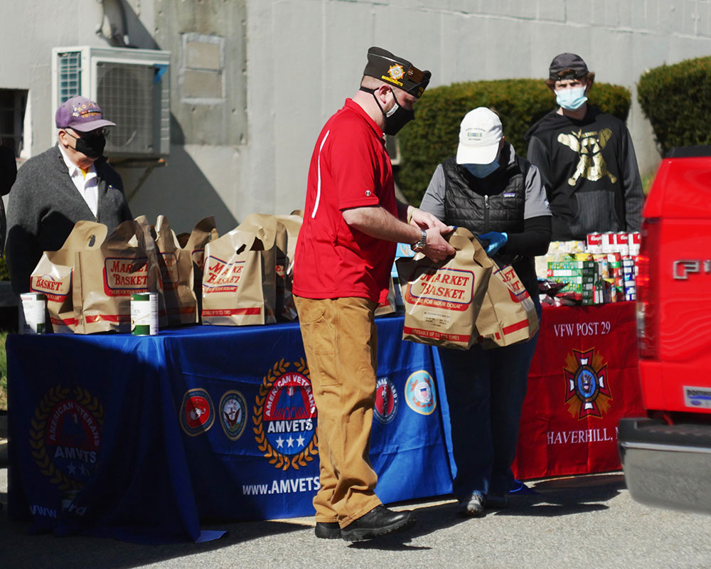 Haverhill VFW and Coalition of Veterans Groups Deliver Cooked Easter Meals and Groceries
