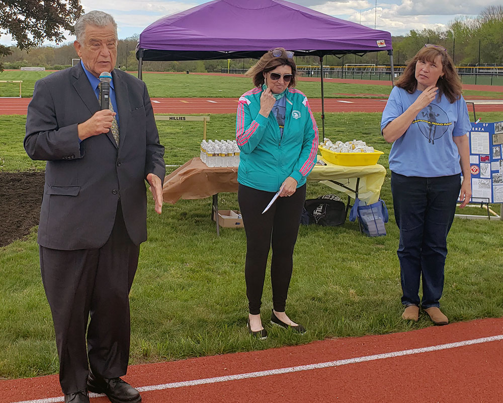 Sapienza Family, Friends and Students Celebrate $2.7 Million Memorial Track and Field Renewal