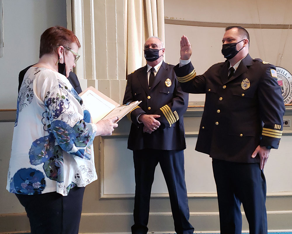 Ceremony Honors New Haverhill Police Leaders: Deputy Doherty and Capt. Paré