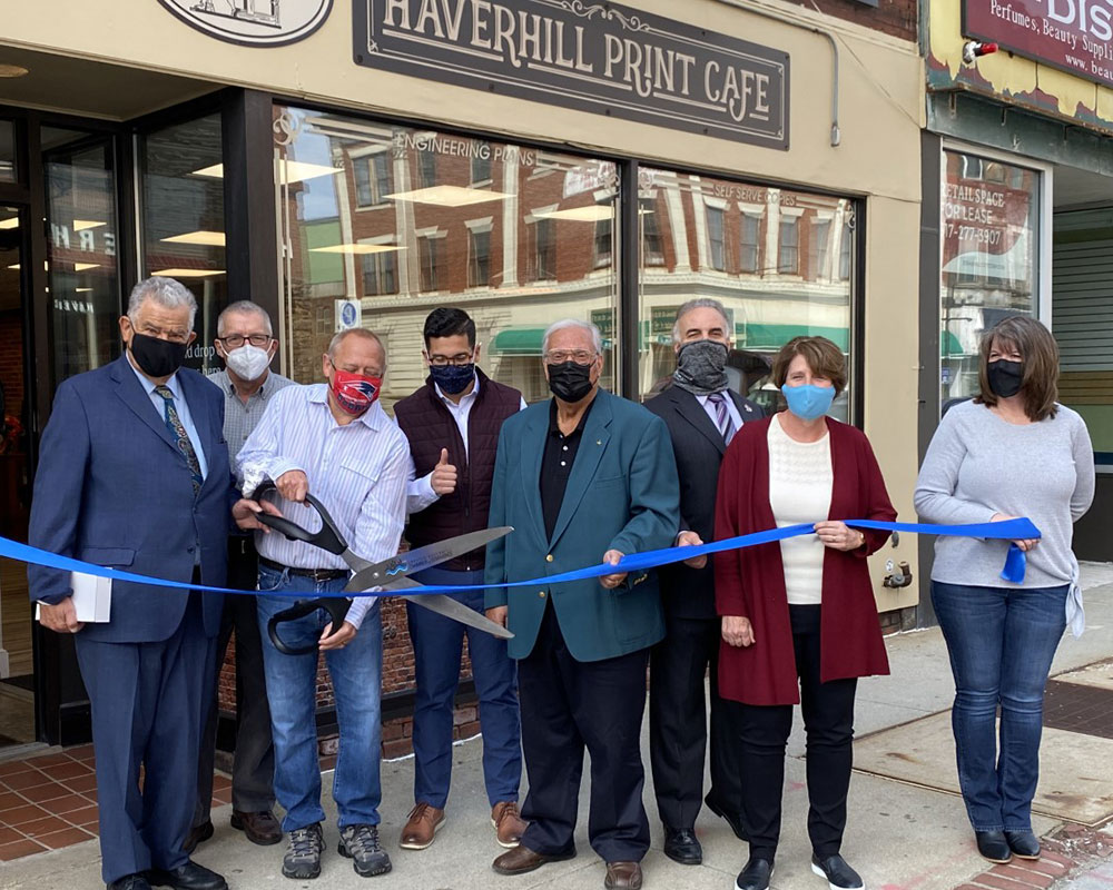 Haverhill Print Café Opens Downtown Following Ribbon-Cutting Ceremony