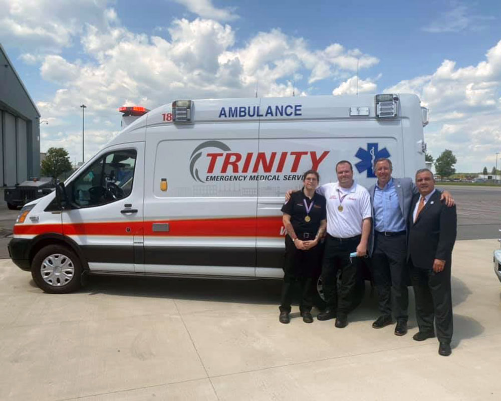 Trinity EMS' Poirier and Hunter Among 22 Honored with Massachusetts Stars of Life Awards