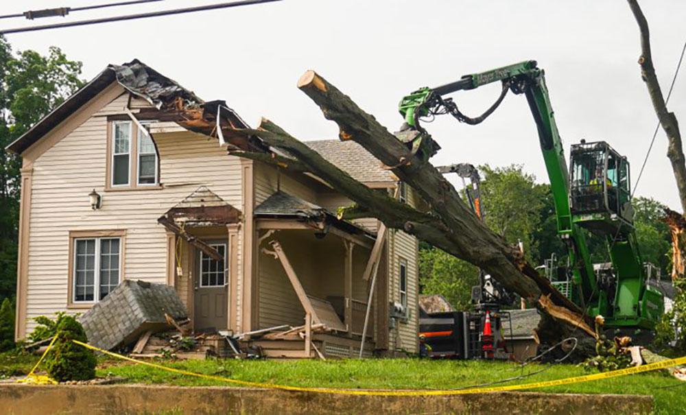 City Inspectors Deem Bradford Home 'Dangerous' After Heavy Damage from Falling Tree Limb