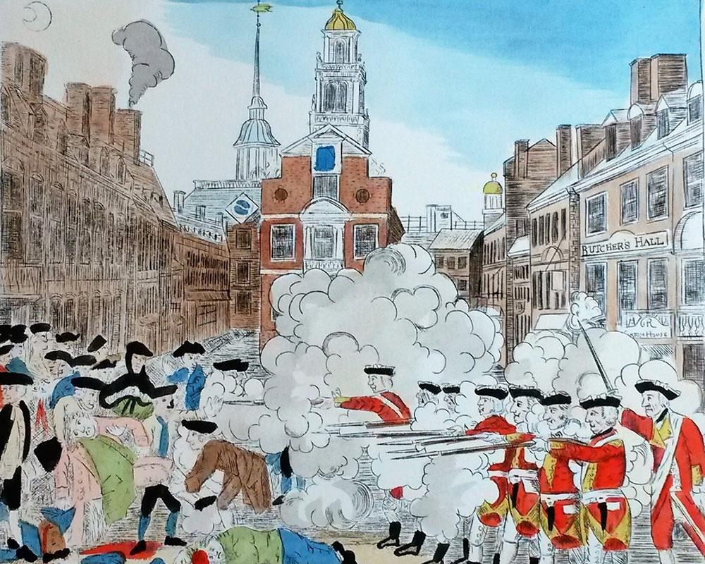 Volpe Discusses Replica Engraving of Paul Revere's Boston Massacre Saturday in Haverhill