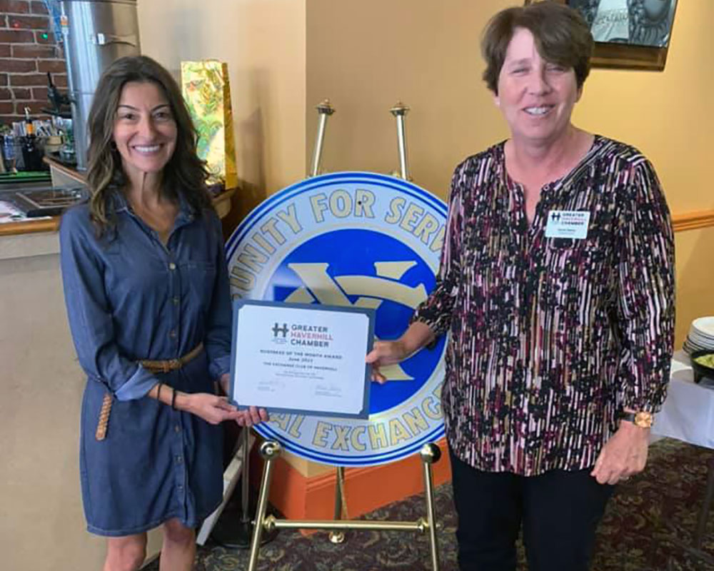 Greater Haverhill Chamber Names Haverhill Exchange Club as Business of the Month
