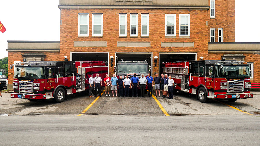 Haverhill Celebrates Arrival of Two New Fire Department Engines
