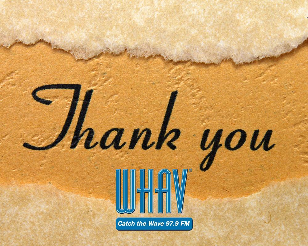 WHAV_thank_you