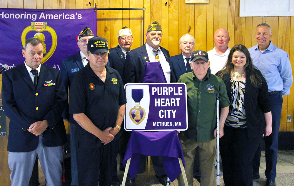 Methuen Also Becomes Purple Heart Community and Honors Recipients for Sacrifices