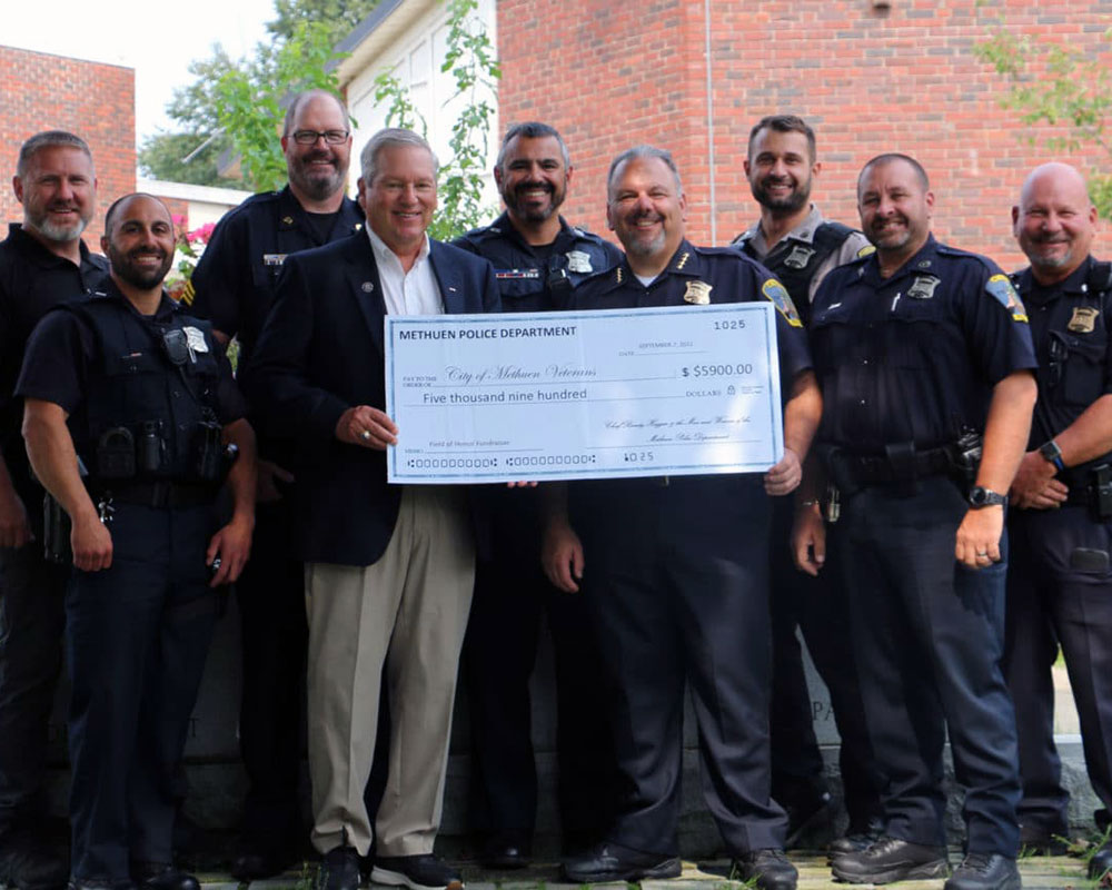 Methuen Police Win Friendly Rivalry with Firefighters—All to Benefit Methuen Field of Honor