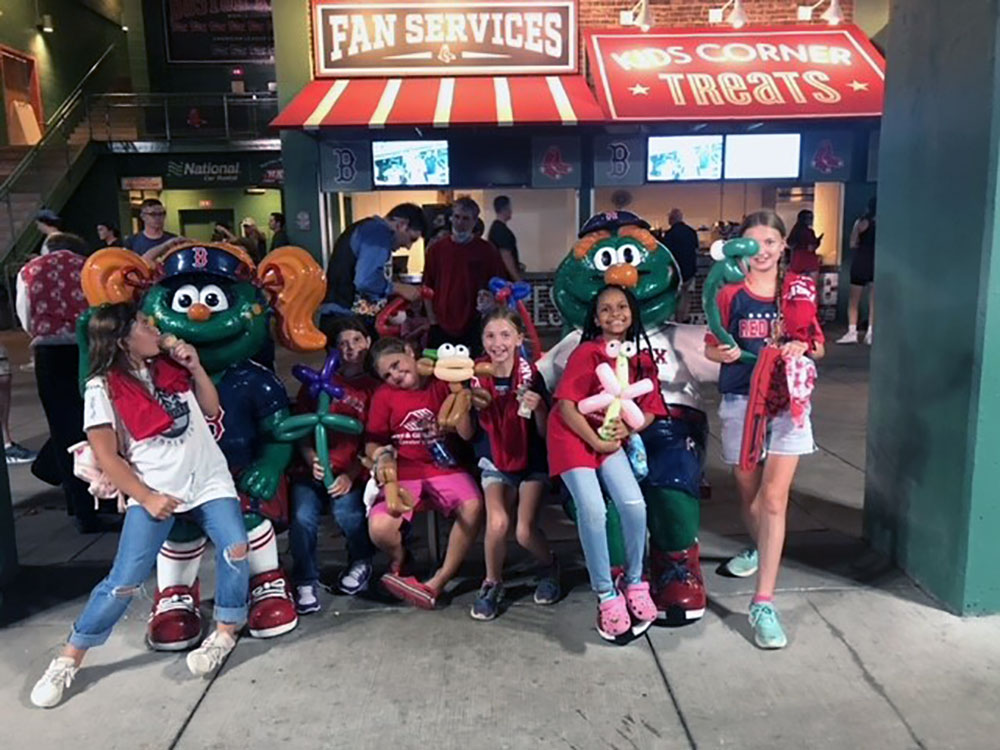 Members of Boys and Girls Clubs of Haverhill and Lawrence Receive Treat of Red Sox Game