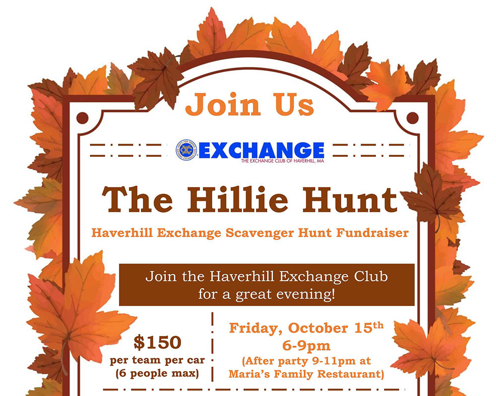 Haverhill Exchange Offers Prizes and After Party for 'Hillie Hunt' Scavenger Hunt Tomorrow