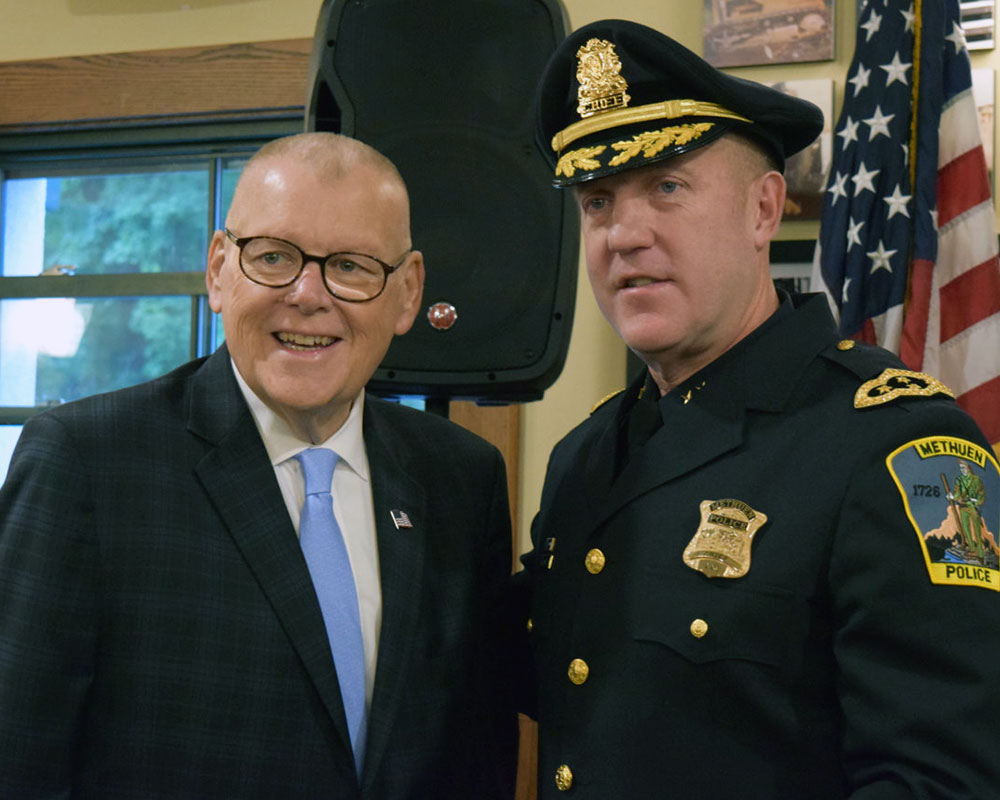 Methuen Formally Swears in Police Chief McNamara During Tuesday Ceremony